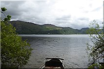 NY2521 : Rowing boat on southern side of St. Herbert's Island by DS Pugh