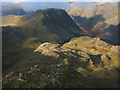NY2107 : The north west shoulder of Broad Crag by Karl and Ali