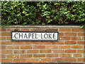 TM0691 : Chapel Loke sign by Adrian Cable