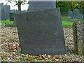 SK7431 : Belvoir Angel headstone, Harby Churchyard  by Alan Murray-Rust
