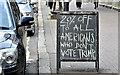 J3373 : [Donald] Trump blackboard, Belfast (October 2016) by Albert Bridge