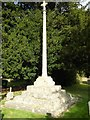 SO9029 : Cross in Tredington churchyard by Philip Halling
