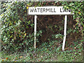TM2481 : Watermill Lane sign by Adrian Cable