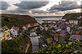 NZ7818 : Sunrise at Staithes by Oliver Mills