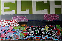 TQ5571 : Graffiti under the M25 by Chris Heaton