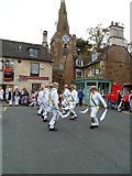 SP8699 : Morris Dancers in Uppingham Market Place by Bob Cantwell