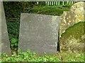 SK7935 : Belvoir Angel headstone. Redmile churchyard by Alan Murray-Rust