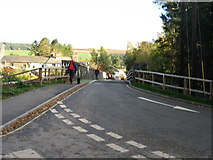 NY4624 : Crossing the Bailey Bridge at Pooley Bridge by David Purchase