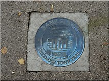 NS2776 : Plaque on Bank Street by Lairich Rig