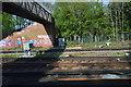 TQ4468 : Footbridge over the line by N Chadwick
