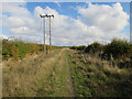 TL3242 : Power lines along Ashwell Street by Hugh Venables