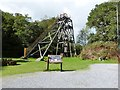 SN6640 : Mine Headframe, The Dolaucothi Gold Mine, Pumsaint, Wales by Derek Voller