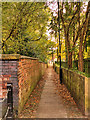 SJ9097 : Moravian Settlement, Path to Fairfield Wells by David Dixon