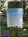 TG0822 : Code of Conduct Notice on Marriott's Way by Adrian Cable