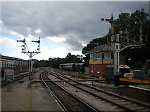 TQ3729 : South end of Horsted Keynes station by Richard Vince
