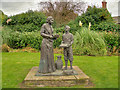 SJ9097 : Floral Garden and Moravians Statue at Fairfield by David Dixon