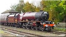 SO8555 : 6201 Princess Elizabeth Entering Worcester Shrub Hill Station by Roy Hughes