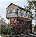 SJ1581 : Grade 2 listed signal box, Mostyn by Matt Harrop