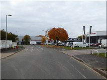 SX9290 : Three car showrooms and some trees, Marsh Barton, Exeter by David Smith