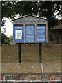 TL9121 : St.Mary the Virgin Church Notice Board by Adrian Cable