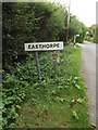 TL9221 : Easthorpe Village Name sign on Easthorpe Road by Adrian Cable