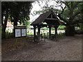 TL9322 : Lych Gate of St.Michael of All Angels Church & Notice Board by Adrian Cable