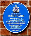 SO5140 : Public baths blue plaque, Kyrle Street, Hereford by Jaggery