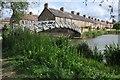 SP5006 : Footbridge crossing canal link by Philip Halling