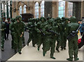 NS5865 : Toy soldiers at Glasgow Central railway station by Mary Nugent