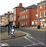 SO5139 : Signpost on a saintly corner of Hereford by Jaggery