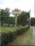 TL9218 : Layer Marney Village sign by Adrian Cable