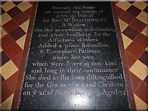 TF5617 : Tilney All Saints Parish Church: ledger slab (1) by Basher Eyre