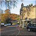 SK2572 : Baslow: Café on the Green at Nether End by John Sutton