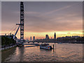 TQ3080 : London Eye and the River Thames at Sunset by David Dixon