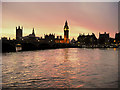 TQ3079 : Westminster Sunset by David Dixon