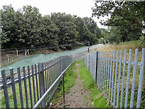 TQ5487 : Footpath 172 and the Romford to Upminster line by Phil Gaskin