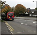 ST3090 : X3 bus descends Malpas Road, Newport by Jaggery