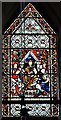 TF0705 : Barnack, St. John the Baptist Church: The Saxon window in the tower by Michael Garlick