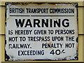 SJ1542 : Old sign at Glyndyfrdwy Station, Denbighshire by Roger  Kidd