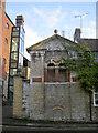 ST8053 : Ornate wallwork beside the brewery by Neil Owen