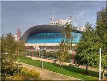 TQ3884 : Queen Elizabeth Olympic Park, The London Aquatics Centre by David Dixon