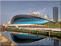 TQ3884 : The London Aquatics Centre by David Dixon