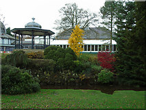 SK0573 : Botanical Conservatory and bandstand, Pavilion Gardens by Carroll Pierce