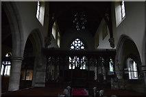 TQ5243 : Church of St John the Baptist - inside by N Chadwick