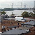 ST3286 : Construction site beside the River Usk, Newport by Robin Drayton