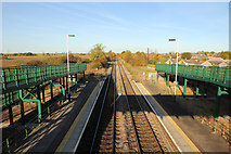 SK8975 : View from Saxilby Station by Richard Croft