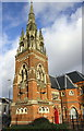SP0789 : Tower and spire of #2 Victoria Road, formerly Christchurch by Roger Templeman