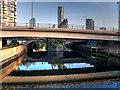 TQ3883 : Waterworks River, Loop Road Bridge, Olympic Park by David Dixon