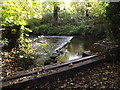 TL1614 : Weir on the River Lea off Cherry Tree Lane by Geographer