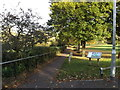 TL1415 : Footpath to the B653 Lower Luton Road by Adrian Cable